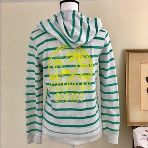VS Green Stripe Full Zip Hoodie w/Palm Tree Logo🌺